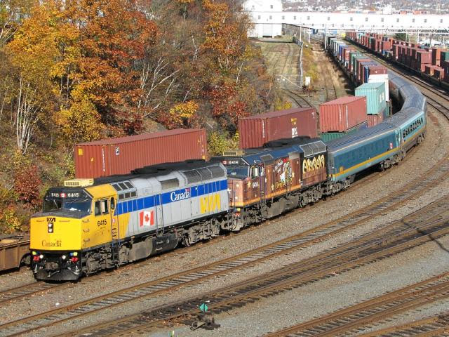 VIA 6415 and 6414 in Halifax