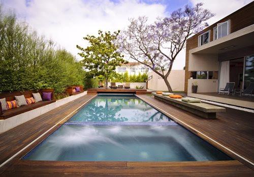 Swimming Pool Wood Deck Designs