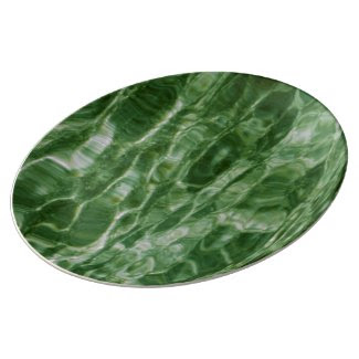 Green Water Porcelain Plate