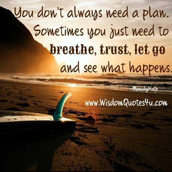 Sometimes You Just Need To Trust Let Go See What Happens Wisdom