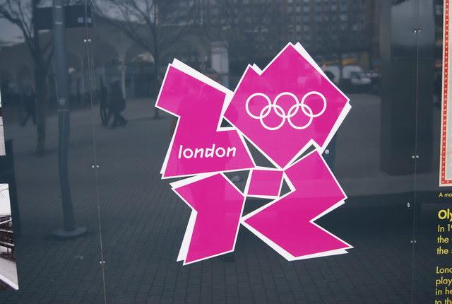 2012 Olympic Logo outside Stratford station