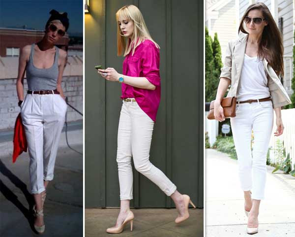 300853 branca Calça Cropped – Tendência para o verão 2012