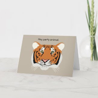 Tiger Birthday Card zazzle_card