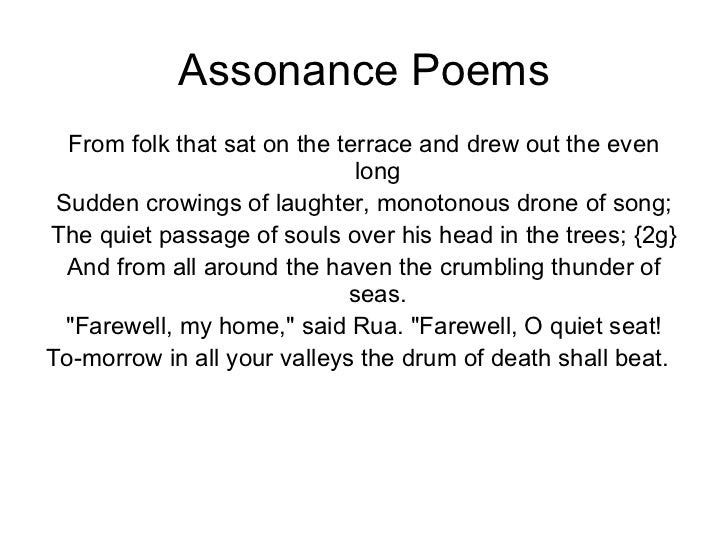 Poems With Assonance 5