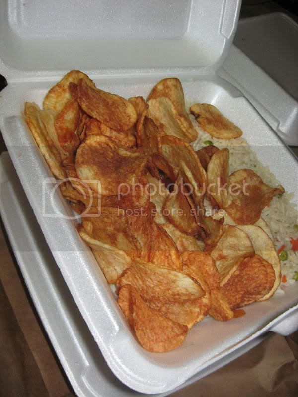Homemade Potato Chips & Rice