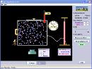 Screenshot of the simulation Ιδιότητες Αερίου