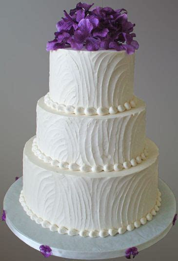 3 Tier rustic buttercream wedding cake with textured