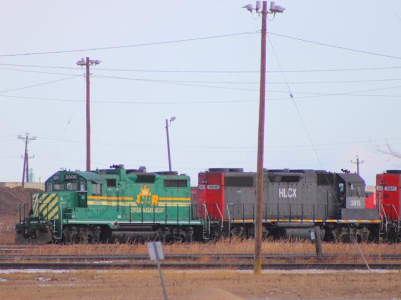 HBRY 2506 and HLCX 3815 and HLCX 3841 in Winnipeg