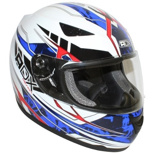 casque moto int gral adx xr1 blanc bleu taille m sport automobile casques. Black Bedroom Furniture Sets. Home Design Ideas