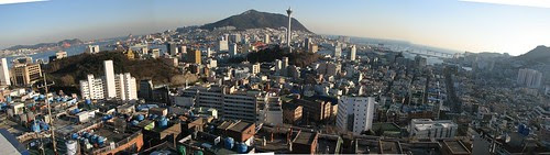 Busan downtown and Yeongdo
