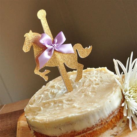 Carousel Cake Topper. Ships in 1 3 Business Days. Carousel