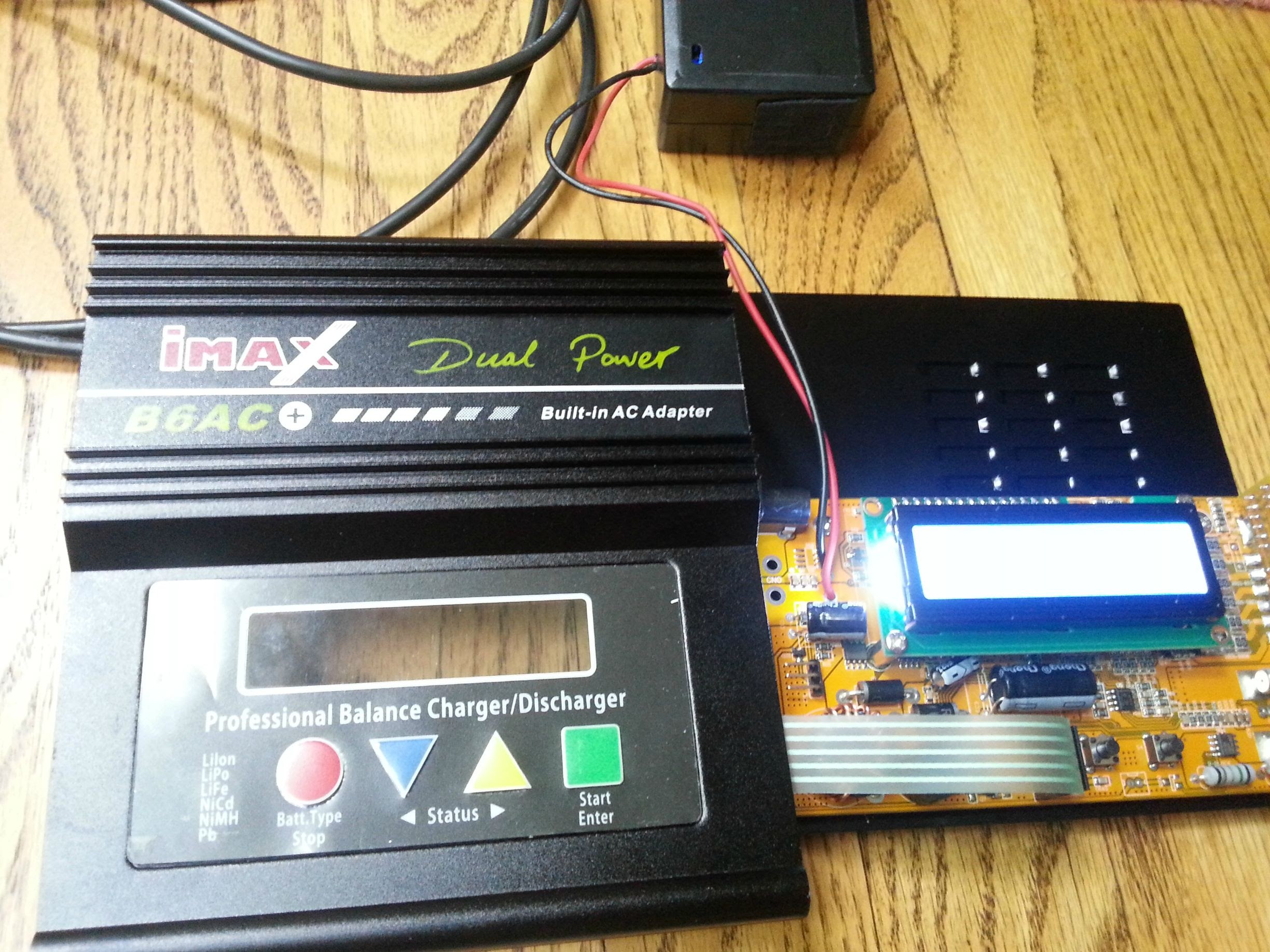 Imax B6 Clone With An Unknown Motherboard And Microcontroller Li Ion Battery Charger Circuit Balancing Attiny26 Lcd Lipo Ive Attached A Picture