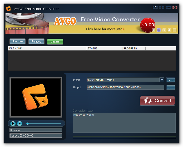 YouTube to MP4 Converter - AVGO YouTube Converter - Free ...