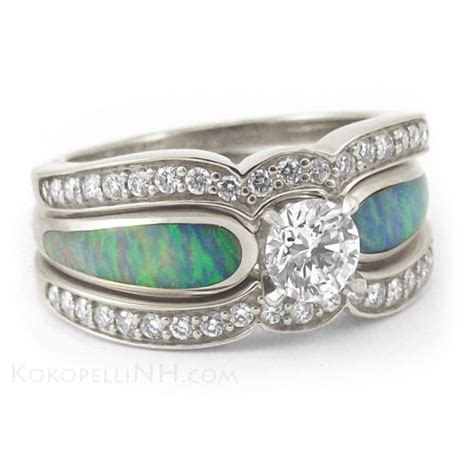 Turquoise Wedding Rings     and Opal Engagement Ring
