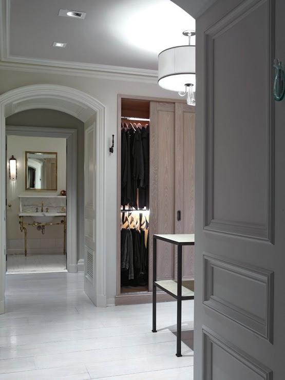 Walk In Closet Design - Transitional - bathroom - Kathryn ...