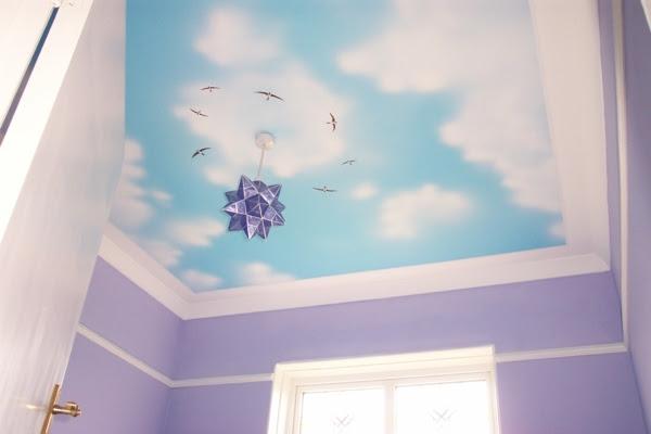 moderne Wandgestaltung Ideen geometrische Muster Schlafzimmer einrichten dekorieren