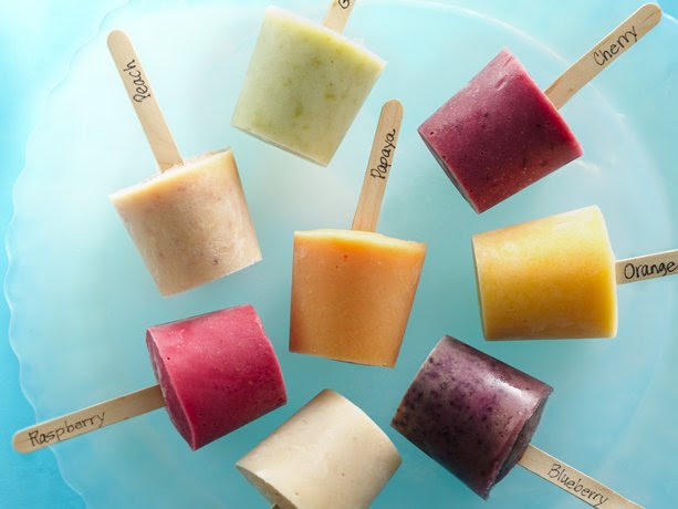 Fresh Fruit Fro-Yo Pops