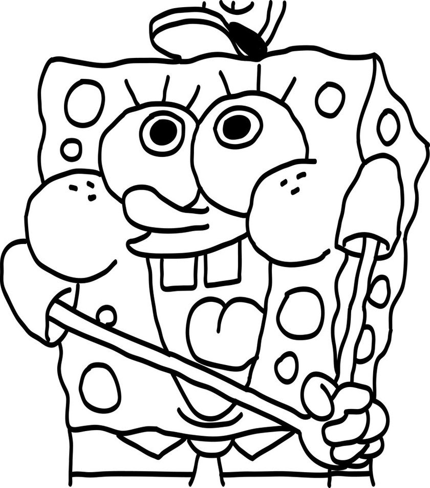 Spongebob Coloring Pages For Kids At Getcoloringscom Free