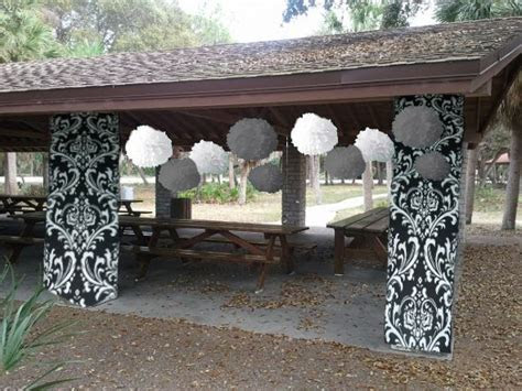 Paper Decor Help! How do I cover these pillars? : wedding