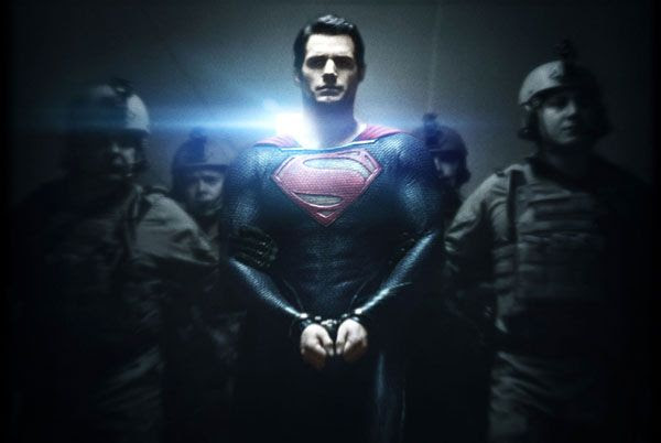 Will Henry Cavill's Superman team up with Bale's Caped Crusader in JUSTICE LEAGUE? Again— We'll see.