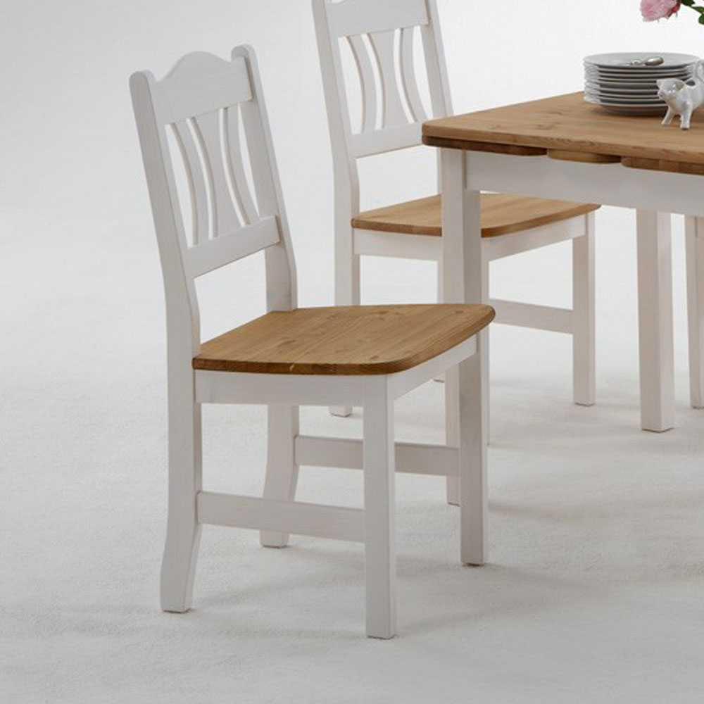 Esstisch mit Stühlen Vipe in Weiß im Landhausstil Wohnen.de