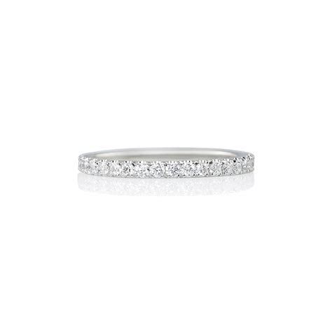 Thin Platinum Diamond Wedding Band   Cynthia Britt