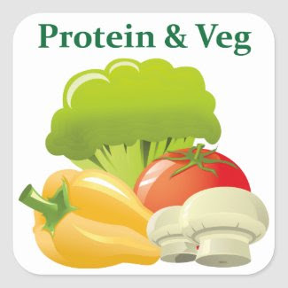 Protein & Veg day sticker sticker