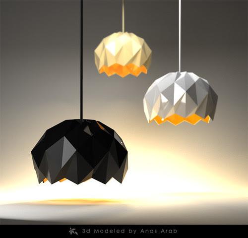"Modern lamp by Anas Arab ""Back to web design"""