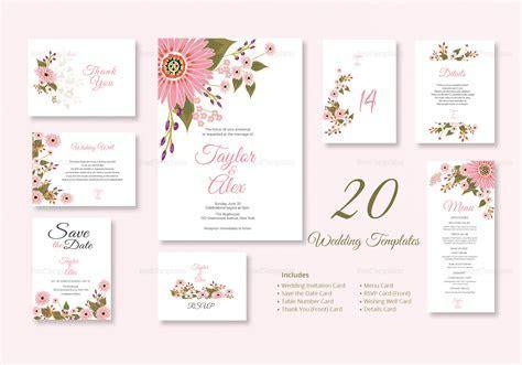Floral Wedding Design Templates in Illustrator, InDesign