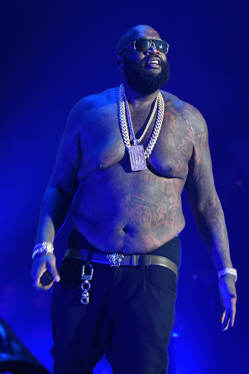 NEW YORK, NY - OCTOBER 20: Rapper Rick Ross performs onstage during TIDAL X: 1020 Amplified by HTC at Barclays Center of Brooklyn on October 20, 2015 in New York City. (Photo by Jamie McCarthy/Getty Images for TIDAL)