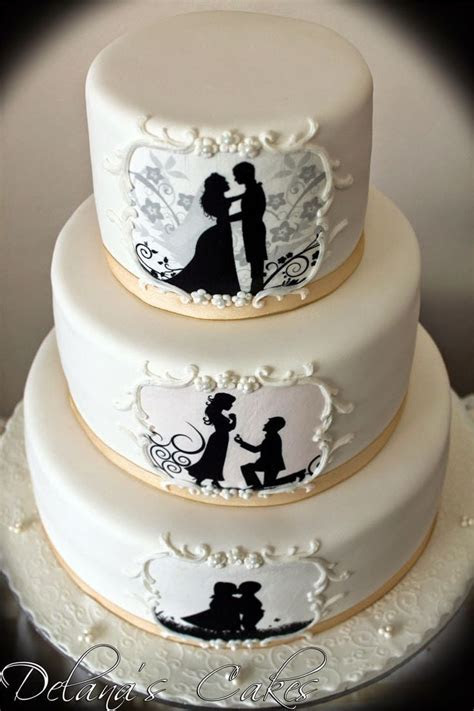 25  best ideas about Silhouette wedding cake on Pinterest