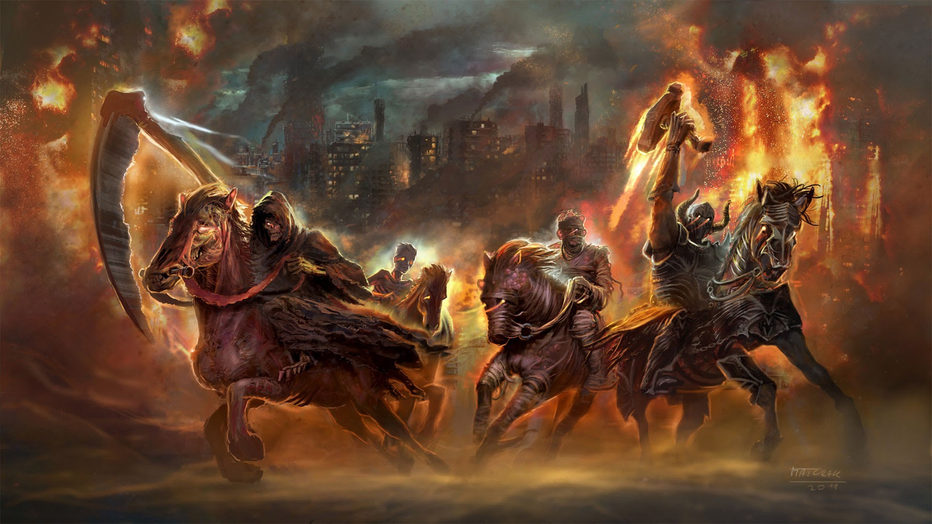 Four Horsemen Of The Apocalypse Wallpaper 74 Images