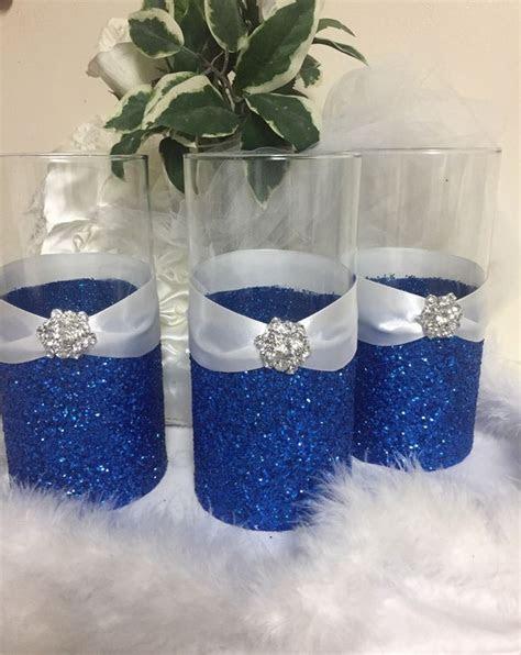 Wedding centerpiece, glitter vase, bridal bouquet holder