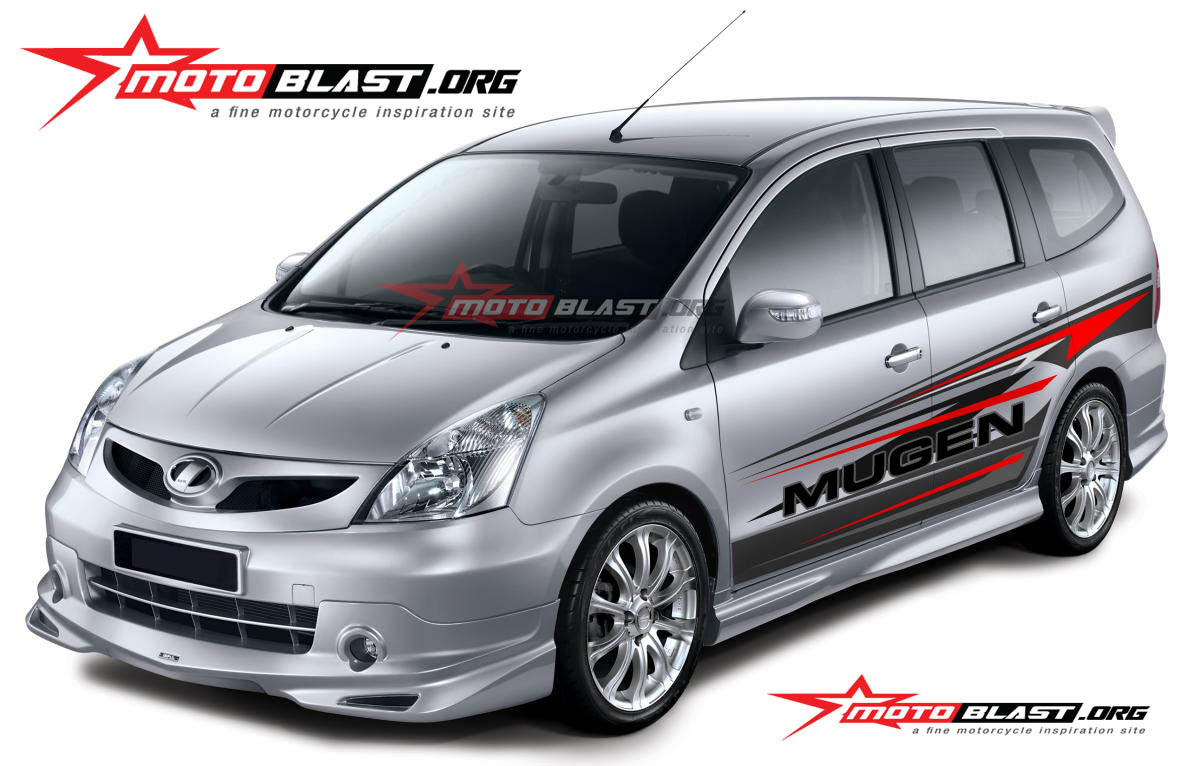 Car Series Modif Striping Mobil Grand Livina Silver MOTOBLAST