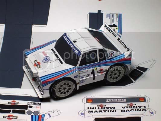 Papermau lancia 037 rally evo2 paper car sd style by for Papercraft lancia