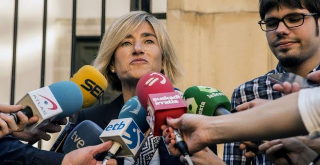 La candidata a lehendakari por Podemos, Pili Zabala. EFE