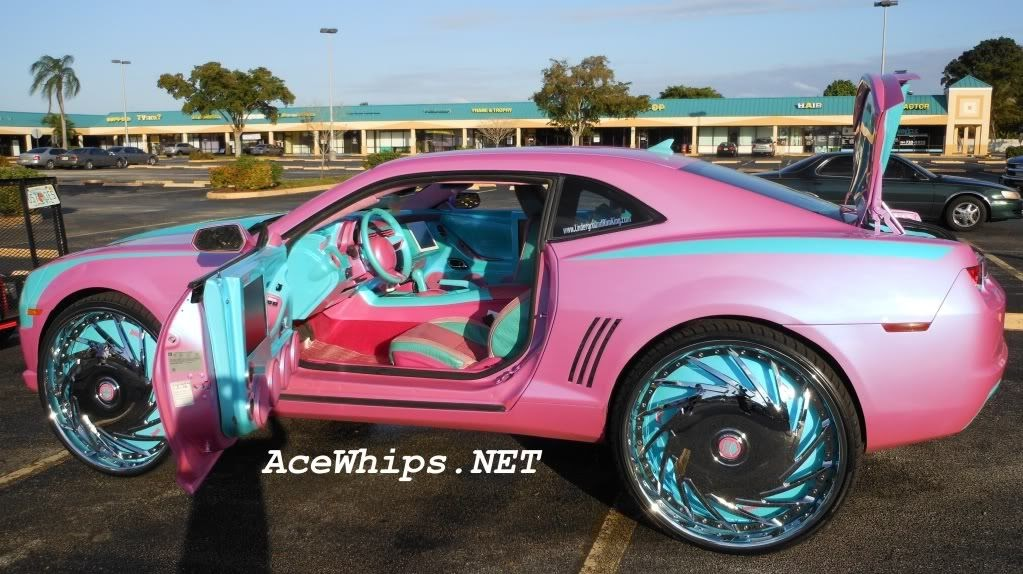 Ace 1 Big Boi S Outrageous Pink 2010 Chevy Camaro On 30 Quot Dub Da U Floaters