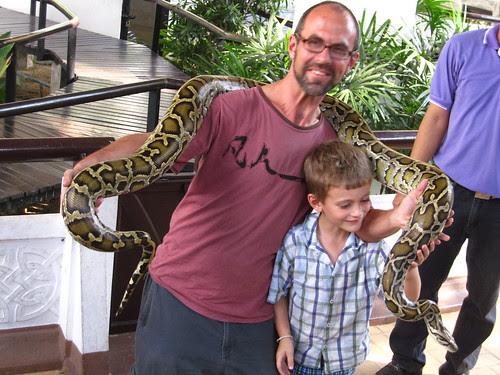 Me, X, and snake, Bangkok