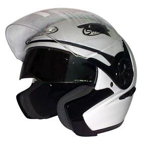 Gambar Helm Hitam Putih