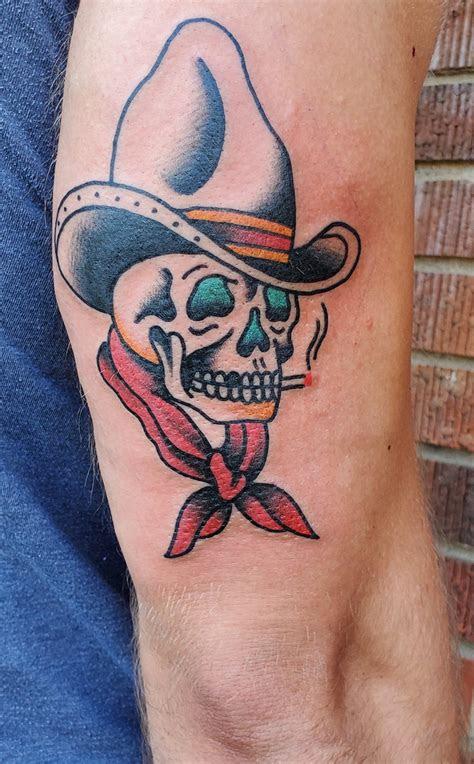 ink cowboy skull  spencer evans  easy tiger