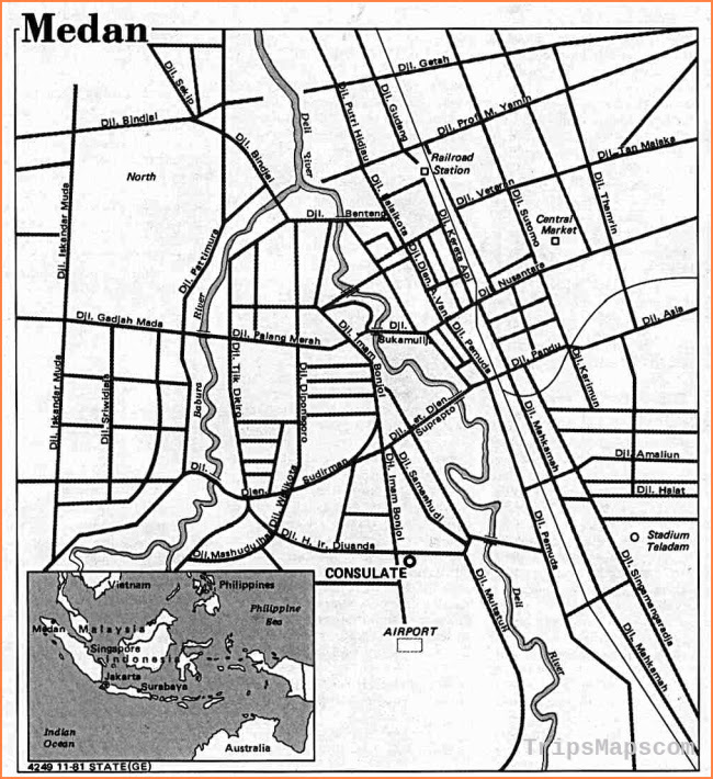 Image Result For Map Medan