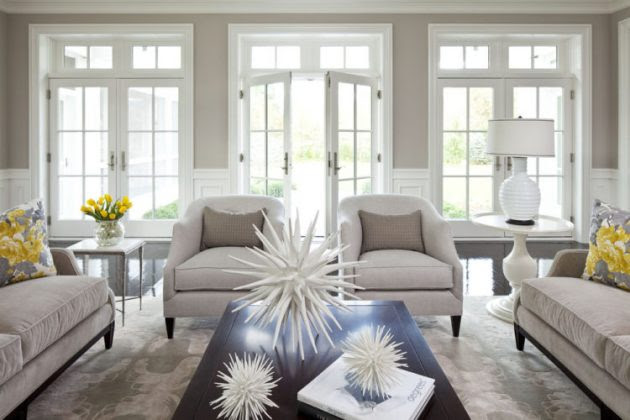 17 Brilliant Living Rooms With French Doors That Will Delight You