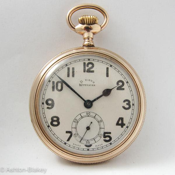 Wittnauer Mens Vintage 8 Day Pocket Watch Ashton Blakey Vintage