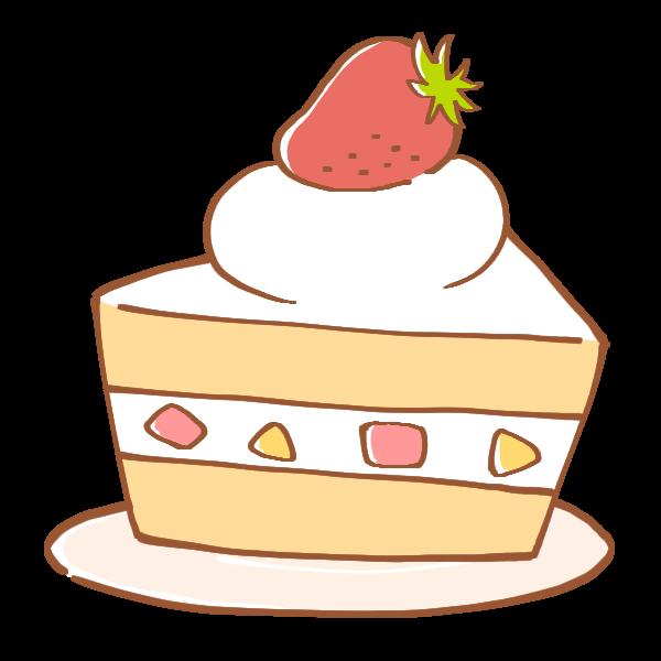いちごのショートケーキのイラスト かわいいフリー素材が無料の