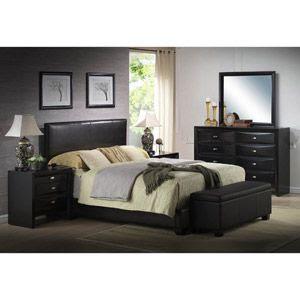 Black Queen Size Bed Set