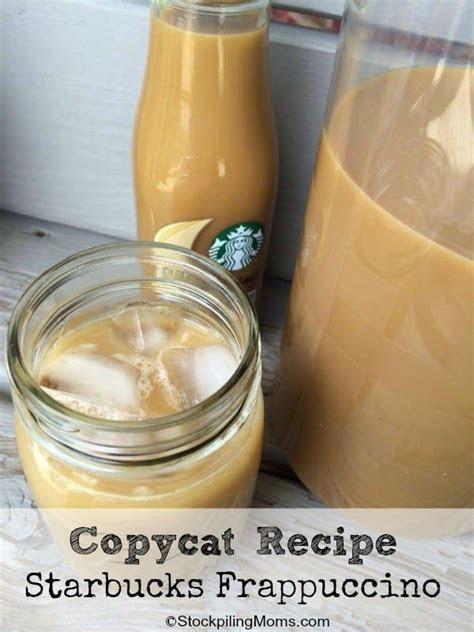 easy   starbucks copycat frappuccino recipe