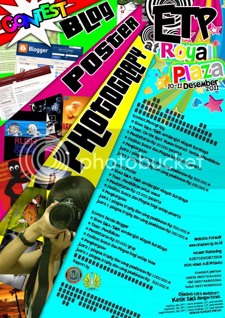 Desember Lomba Fotografi, Poster dan Desain Blog ETP Universitas Negeri Surabaya