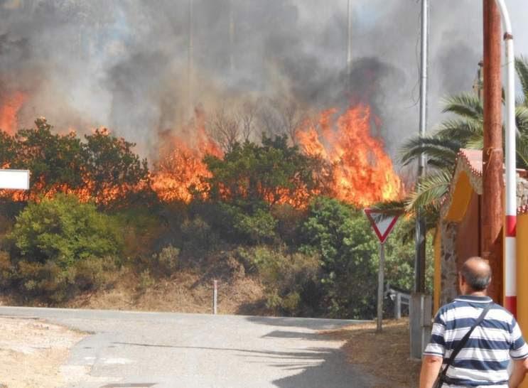 Incendio en Cerdeña