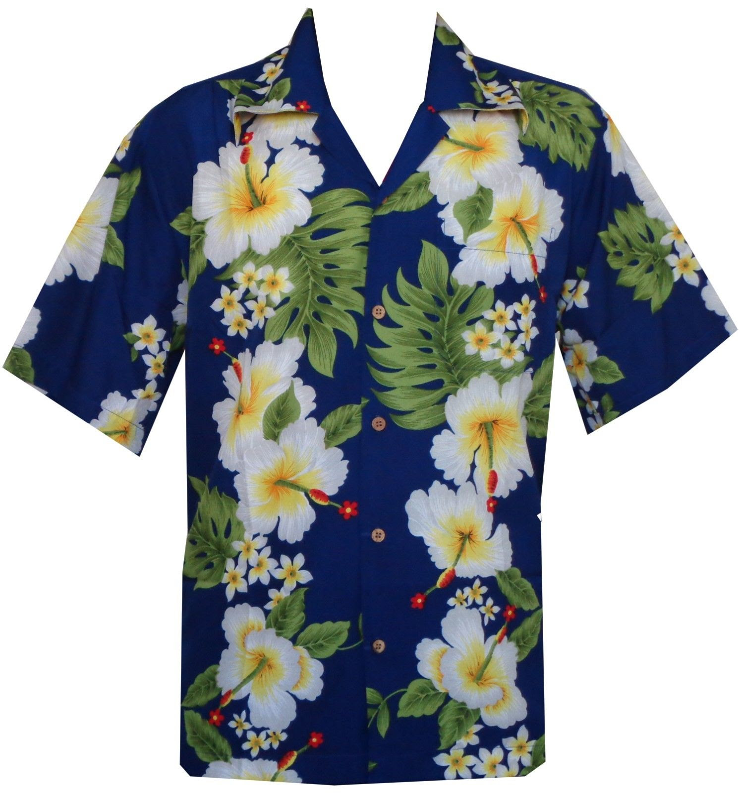 hawaiian shirts mens hibiscus flower print beach party