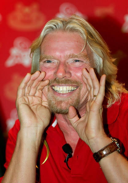 Richard Branson Sir Richard Branson gestures during the official launch of the new Virgin Active, health and fitness club on February 23, 2009 in Melbourne, Australia.  (Photo by Scott Barbour/Getty Images) *** Local Caption *** Sir Richard Branson
